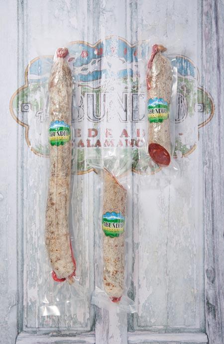 Chorizo Cular Ibérico Pieza Vacio y Mitades